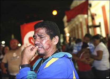 Chavez supporter in Caracas