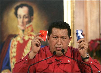 Mr Chavez in Caracas