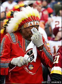 An upset Redskins fan