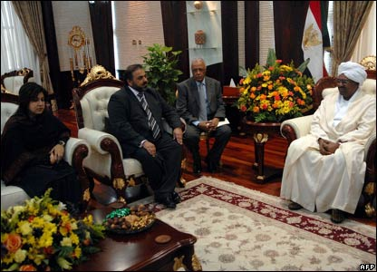 President Omar al-Bashir with Lord Ahmed and Baroness Warsi
