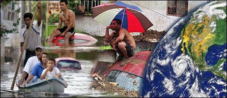 Imágenes de víctimas de inundaciones en América Latina y de la Tierra