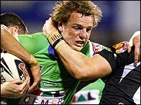 David Howell in action for Canberra
