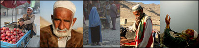 A montage of photos of Afghan life
