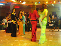 Iraqi girls in at a night club in Damascus