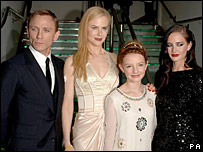 Eva Green (right) with her Golden Compass co-stars