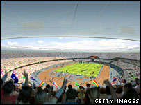 Artist's impression of 2012 stadium