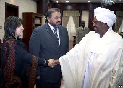 Baroness Warsi and Lord Ahmed meet President Omar al-Bashir