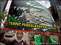 Protest against deforestation in Indonesia (Getty Images)