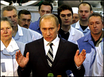 President Putin after elections
