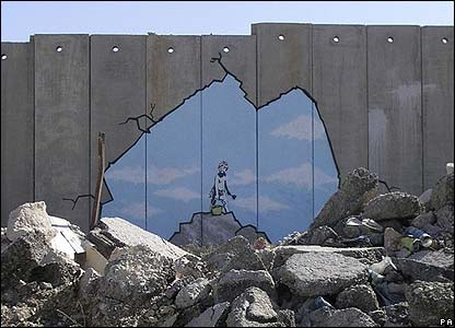 Banksy mural painted in 2005