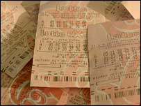 Lottery tickets, BBC
