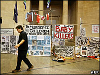 Mark Wallinger's Turner Prize 2007 entry at Tate Liverpool