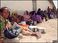 Somalis at Afgoye displaced from fighting in Mogadishu - 2/12/2007