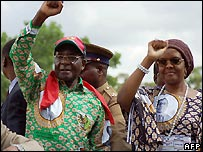 Robert and Grace Mugabe - 30/11/2007