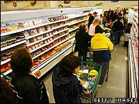 Shoppers in one of Tesco's new US stores