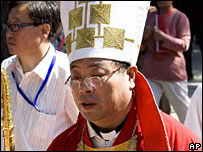 Vatican-backed Li Shan at his installation as Bishop of Beijing in September