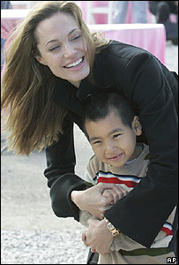 Angelina Jolie and son Maddox