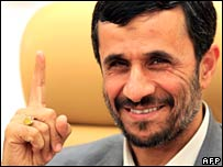 Iranian President Mahmoud Ahmadinejad pictured last month