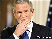 George W Bush at White House in May 2006