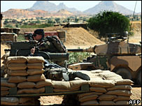 French soldiers at their base in Abeche, eastern Chad