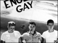 Colonel Paul Tibbets with colleagues