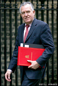 Peter Hain arriving for the weekly Cabinet meeting on Tuesday