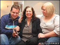 Gillian Gibbons and her son and daughter