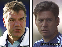 Sam Allardyce and Chris Waddle