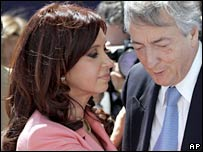 Presidential couple Cristina  and Nestor Kirchner