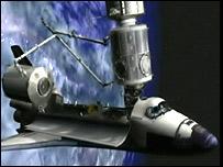 Columbus on Space Shuttle (Esa)