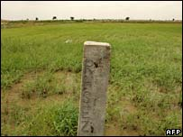 Land earmarked for an industrial zone in Haryana, 1 July 2007