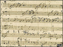 Record-breaking Mozart page