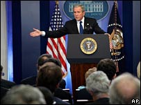 President Bush holds a news conference on 4 December