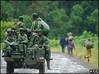 DRC army in n Kivu