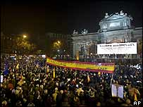 Rally against Eta in Madrid