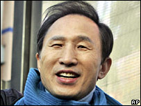South Korea's presidential frontrunner Lee Myung-bak