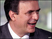 File photograph of Mexico City Mayor Marcelo Ebrard