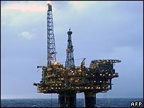 Plataforma petrolera marina.