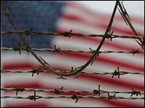 US flag flying at Guantanamo Bay