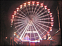 The Ferris wheel in Swansea