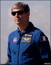 El astronauta Leopold Eyharts (ESA)