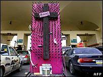 A memorial to dead women in Ciudad Juarez, Mexico