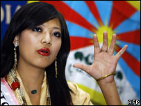 Miss Tibet 2006 Tsering Chungtak in New Delhi (05/12/2007)