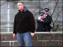 "Police Taser training scenario with armed ""suspect"""