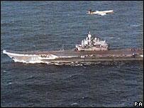 Kuznetsov aircraft carrier