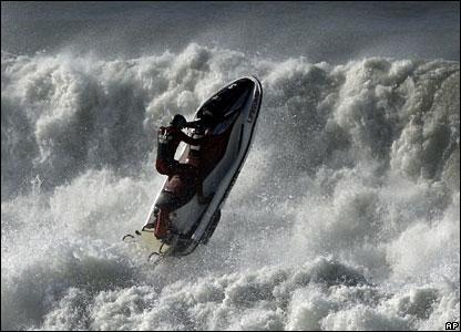 A lifeguard at Manhattan Beach, California
