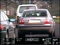 A South Yorkshire police officer caught speeding