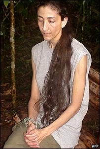 Ingrid Betancourt en el video hallado por el ejército