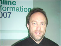 Jimmy Wales at Online Information 2007