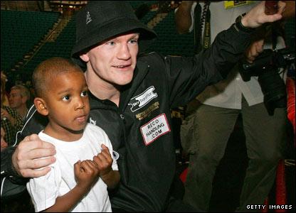 Floyd Mayweather Jr and Ricky Hatton